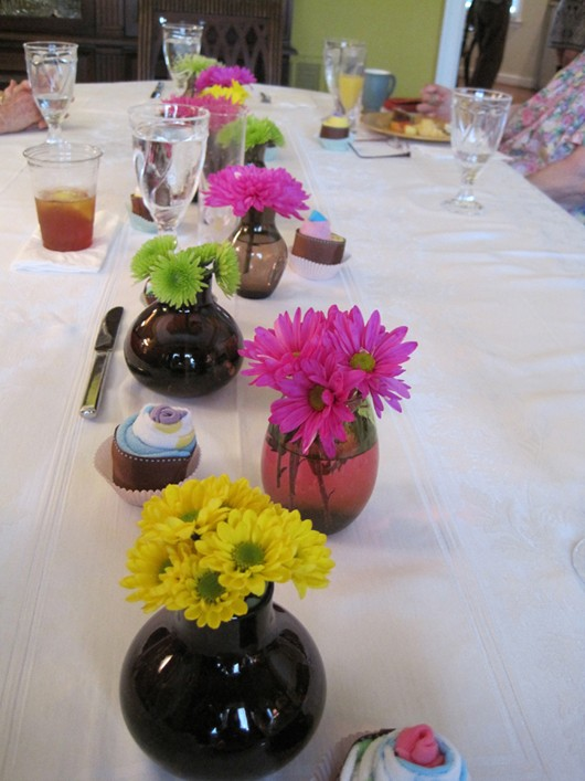 Owl Themed Baby Shower Flower Centerpieces