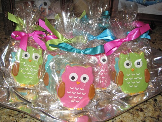 Owl Themed Baby Shower Cookie Favors