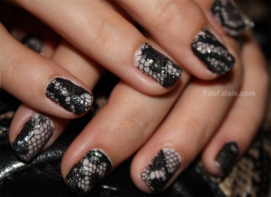 Lace Manicure Lace Nails