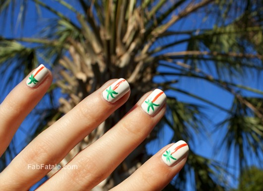 Alexa Chung New York Fashion Week Palm Tree Manicure Nails