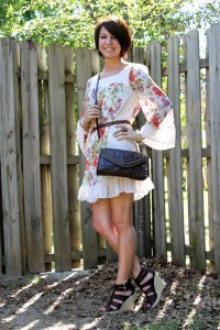 Jovovich Hawk Floral Dress Coachella Music Festival Style