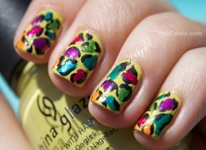 China Glaze Island Escape Summer 2011 Tropical Leopard Manicure