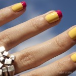 Manicure Mondays &#8211; Sunny Yellow &#038; Raspberry Tips