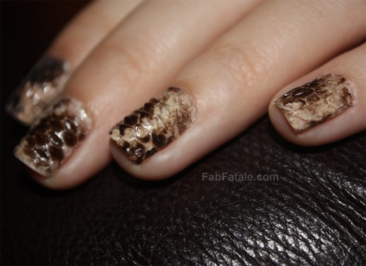 Real Snakeskin Manicure DIY Tutorial