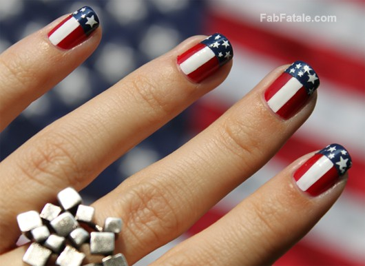 Fourth 4th Of July Manicure 4th of July Nails American Flag Nail Art - Manicure Mondays - 4th Of July Manicure - Fab Fatale