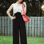 Two-Toned Maxi Jumpsuit &#038; Orange Satchel