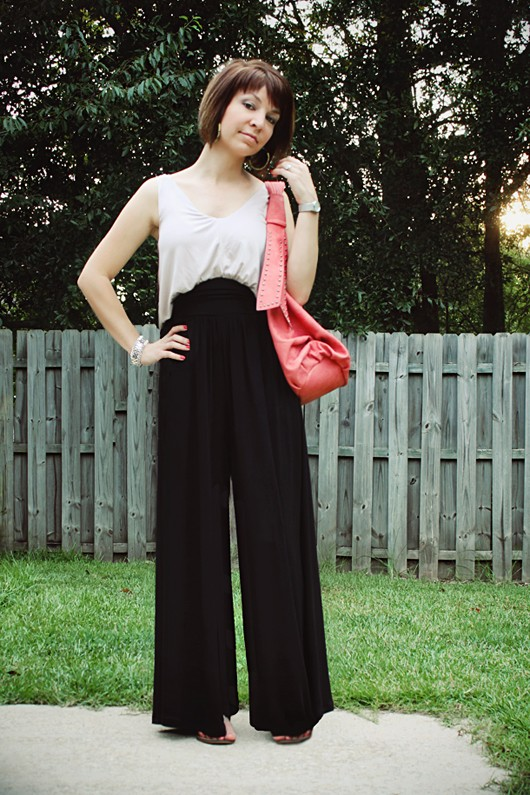 Casual Couture Two Toned Wide Leg Jumper