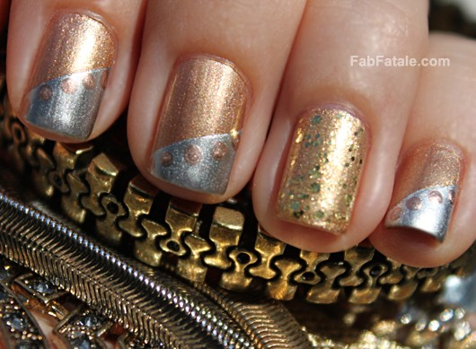 Manicure Mondays - 24k, White, & Rose Mixed Metals - Fab Fatale