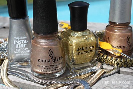 Mixed Metals Gold Silver Manicure Nail Polish