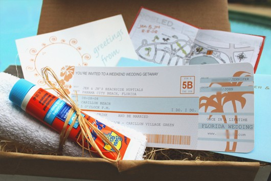 DIY - Airplane Ticket Invitations - Fab Fatale