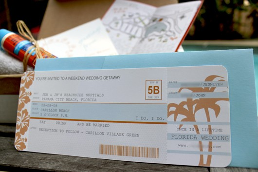 DIY Airline Ticket Invitations