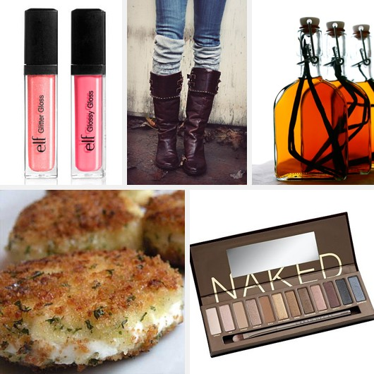 E.L.F. Lipgloss Riding Boots Urban Decay Naked Palette Fried Goat Cheese DIY Vanilla Extract