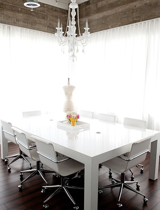 Who What Wear White Office Meeting Table