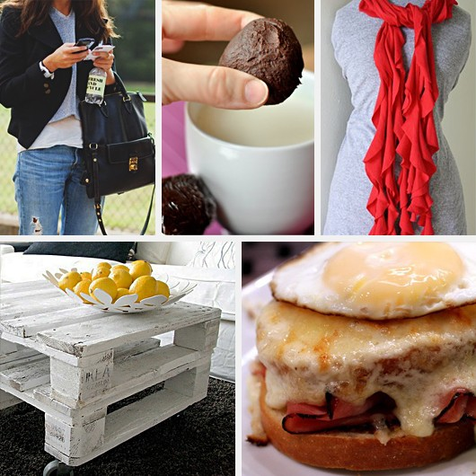 Layers Hot Chocolate Recipe Gift DIY T Shirt Scarf Pallet Coffee Table Croque Madame Monsieur