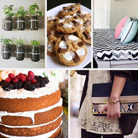 Wall Jar Atrium S'mores Cookies Recipes DIY Chevron Block Printing Exposed Cake Frosting Snake Lace