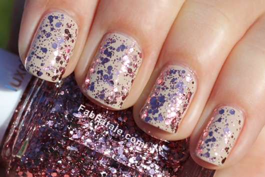 Essie LuxeEffects A Cut Above Pink Glitter Sequin Top Coat Nail Polish