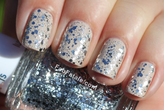 Essie LuxeEffects Set In Stones Silver Sequin Glitter Nail Polish Top Coat