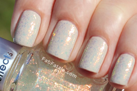 Essie LuxeEffects Shine Of The Times Iridescent Top Coat Flakies Nail Polish