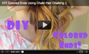 Hair Chalking DIY Tutorial Colored Ends