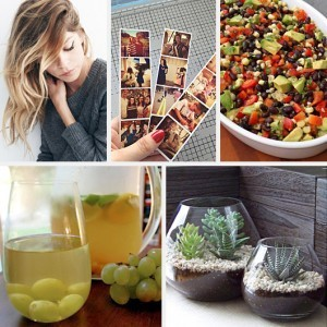 Ombre Hair Wing Eyeliner Instagram Photostrips DIY Avacado Bean Salsa Frozen Grapes Wine Vase Terrarium