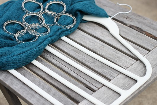 Scarf Hanger Organizer DIY Tutorial Shower Rings