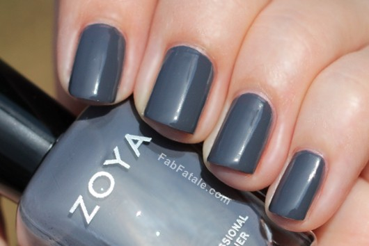 Zoya Kelly Dark Purple Gray Creme Nail Polish
