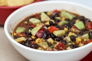 Avacado Black Bean Corn Lime Red Pepper Dip Recipe