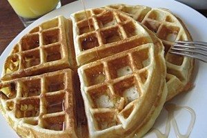 Basic Traditional Homemade Waffles Recipe