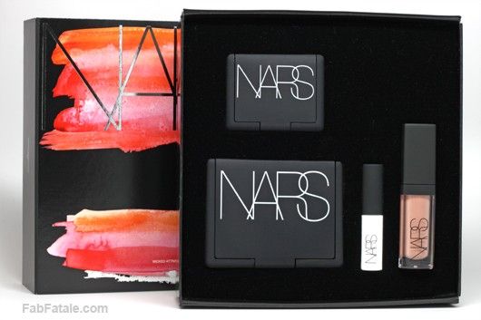 NARS Wicked Attraction Set Fathom Eyeshadow Orgasm Blush Laguna Bronzer Smudge Proof Eyeshadow Base Larger Than Life Lip Gloss Spring Break