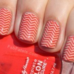 Manicure Mondays &#8211; Chevron + Tangerine Tango