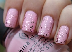 China Glaze Breast Cancer Awareness Nails Manicure