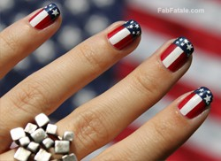Fourth 4th Of July Nails Manicure American Flag