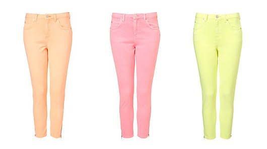 Neon Pastel Skinny Jeans Pastel Colored Denim