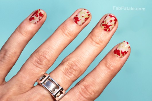 Sally Hansen Aflorable Red Green Floral Manicure Nail Strips