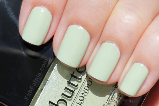 Butter London Spring Swatches - Bossy Boots Light Green Creme Nail Polish