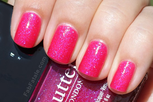 Butter London Spring Swatches - Disco Biscuit Hot Pink Shimmer Nail Polish