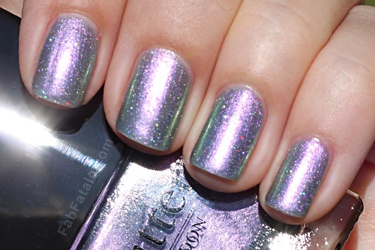 Butter London Spring Swatches - Knackered Gray Silver Metallic Shimmer DuoChrome Nail Polish