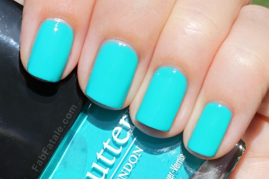 Butter London Spring 2012 Swatches - Slapper Teal Aqua Creme Nail Polish