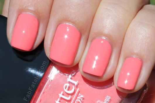 Butter London Spring Swatches - Trout Pout Pink Salmon Creme Nail Polish