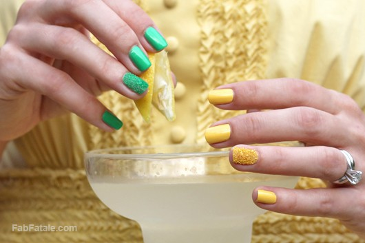 Caviar Nails Manicure Tutorial DIY - Lemon Lime Manicure Mondays