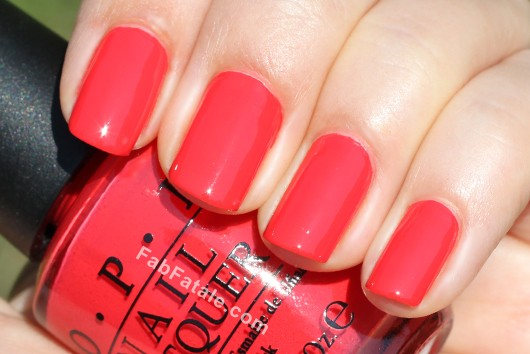 OPI Holland Spring 2012 Collection Swatches Review - Red Lights Ahead... Where?