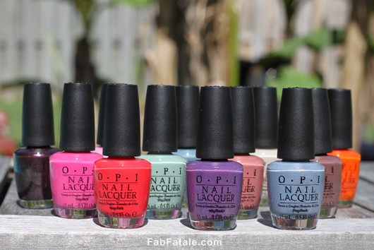 OPI Holland Spring 2012 Collection Swatches Review