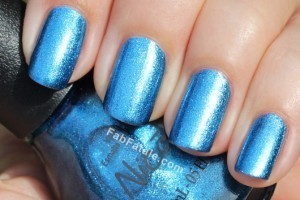 Nicole by OPI - A Lit-Teal Bit Of Love Blue Metallic Shimmer Nail Polish