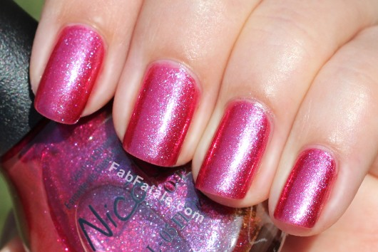 Nicole by OPI - Best Pink Ever Bright Pink Purple Metallic Shimmer