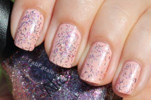 Nicole by OPI - Fabulous Is My Middle Name Pink Red Purple Silver Bar Glitter Nail Polish