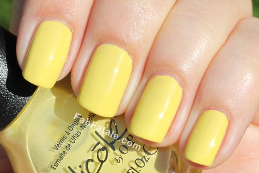 Nicole by OPI Kardashian Kolor - Ladies In The Limelight Yellow Lime Creme Nail Polish