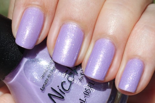 Nicole by OPI Kardashian Kolor - One Big Happy Fame-ily Light Purple Silver Shimmer Nail Polish