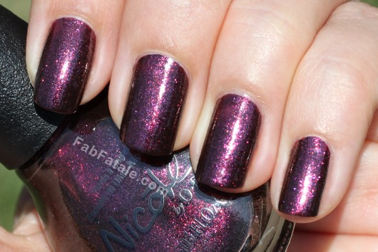 Nicole by OPI - Shoot for the Maroon Purple Pink Glitter Shimmer Nail Polish