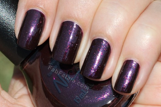 Nicole by OPI Kardashian Kolor - Smile For The Glam-era Plum Purple Pink Glitter Shimmer Nail Polish
