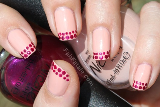 Manicure Mondays - Ruby Tips Stippling Dots Nails